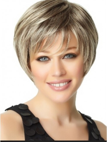 Gorgeous Short Capless Straight Synthetic Hair Wig
