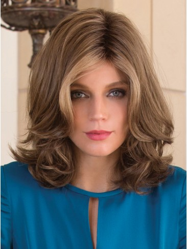 Full lace Central Parting Shoulder-length Hair Wave Wig