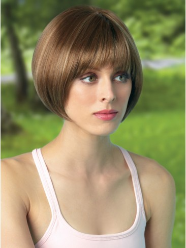 Bowl Cut Silkystrsight Lace Front Wig