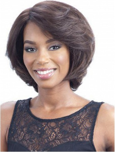Lovely Medium Bob Straight Capless Synthetic Wig