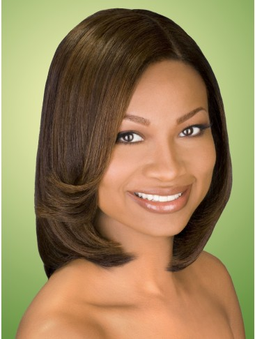 Medium Hair Curling Capless Synthetic Wig