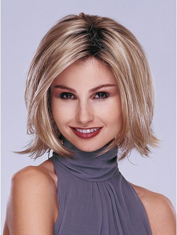 Mid-length Layered Bob Synthetic Lace Front Wig