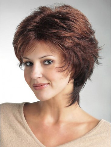 Flicked Layers Tapered Nape Synthetic Wig