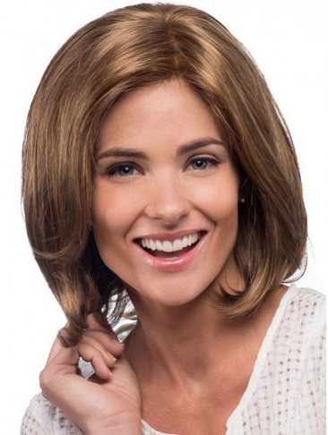 Collar Length Voluminous Synthetic Bob Lace Front Style