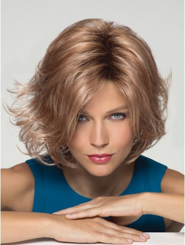 Chin-length Layered And Voluminous Synthetic Wig