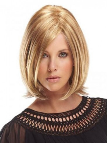 "10"" Remy Human Hair Highlight Lace Front Wig"