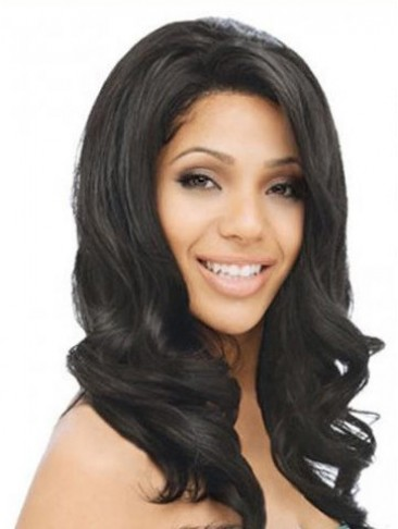 "16"" Wavy Remy Human Hair Lace Front Wig"
