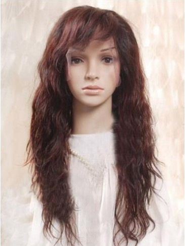 "22"" Remy Human Hair Wavy Full Lace Wig"