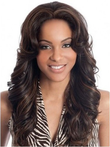"20"" Deep Wave Indian Remy Human Hair Full Lace Wig"