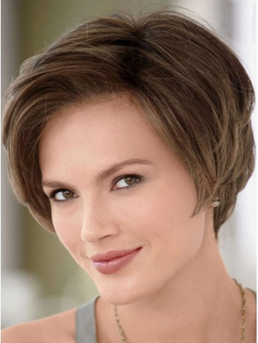 Lace Front Side-Swept Bangs Flattering Bob Style Human Hair Wig