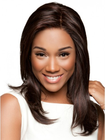 Long Human Hair Natural Straight Lace Front Wig