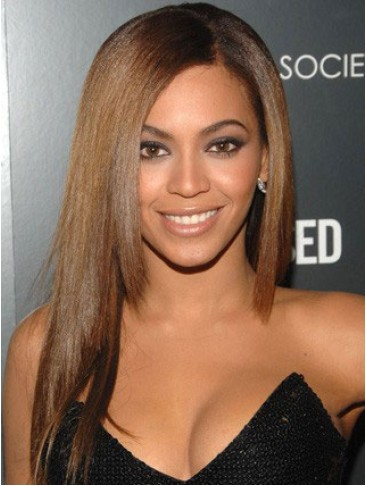 Beyonce Sleek Straight Human Hair Full Lace Wig