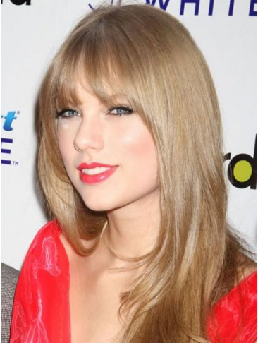 Taylor Swift Long Straight Synthetic Blonde Wig