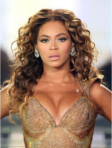 Beyonce Long Cute Wavy Remy Human Hair Wig