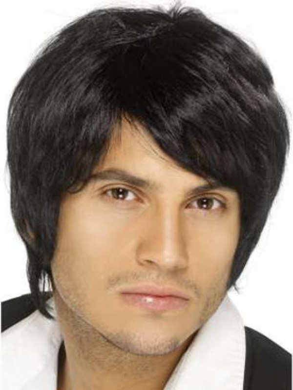 Human Hair Fashion Mens Capless Wig 9775378dc329