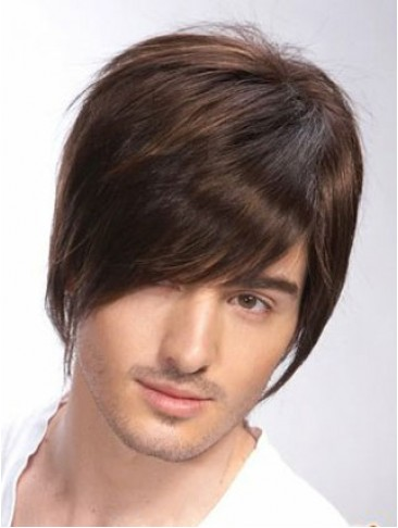 100% Remy Human Hair Full Lace Mens Wig