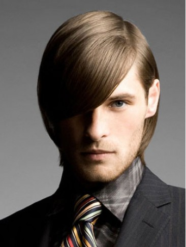 Short Straight Lace Front Mens Human Hair Wig