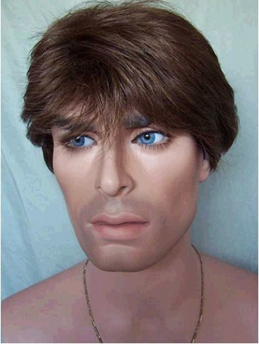 Wonderful Short Straight Synthetic Capless Wig for Man