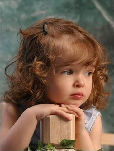 Remy Human Hair Lovely Curly Kids Wig