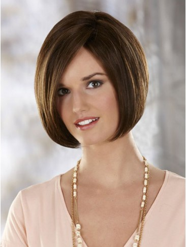 Chin Length Straight Lace Front Bob Wig