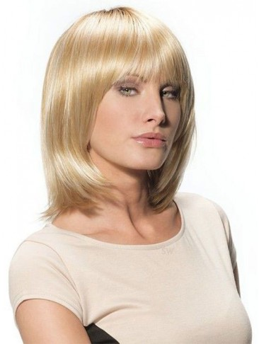 Shoulder Length Synthetic Bob STyle With Full Bangs