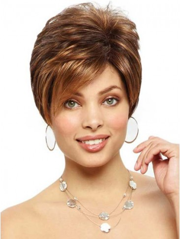 Short Edgy Cut Lace Front Cropped Wig