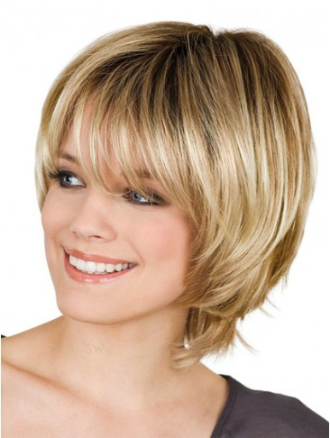 Modern Stylish Cuts Light Blonde Short Wig