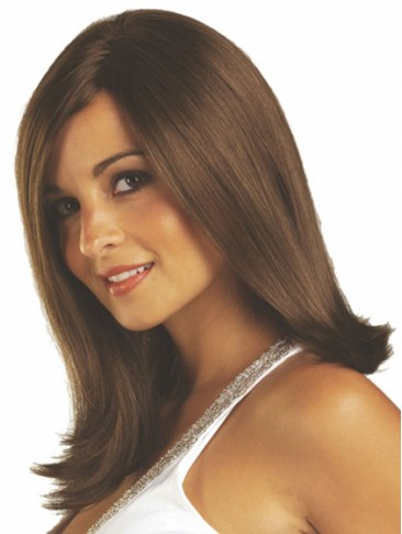 Natural Straight Synthetic Medium Wig