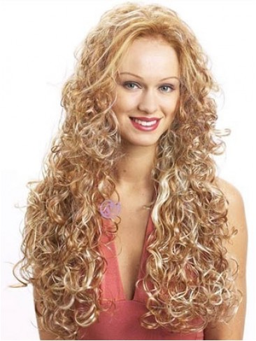 Extra Long Wavy Synthetic 3/4 Capless Wig