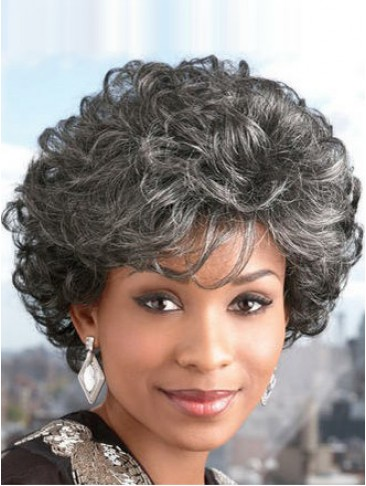 Short Curly UltraLite Grey Wig