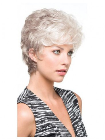 Carefree Side Parting Synthetic Capless Grey Wig