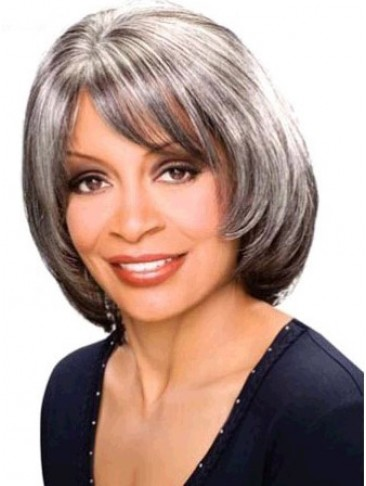 Mid-length Straight Synthetic Capless Wig